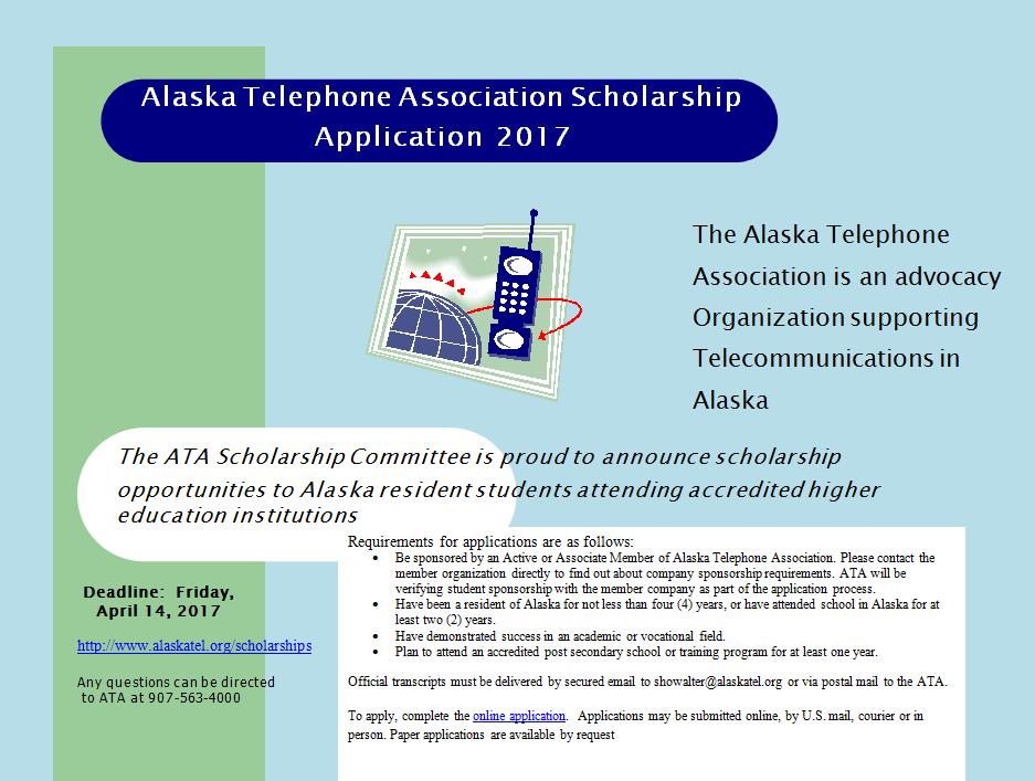 Alaska Telephone 2017 Scholarship