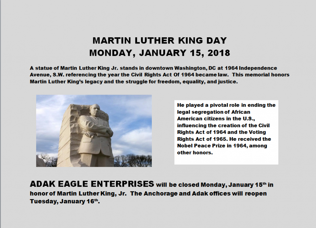 mlk day announcement