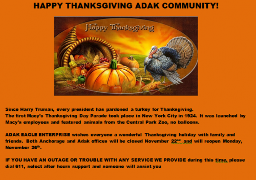 Website Thanksgiving