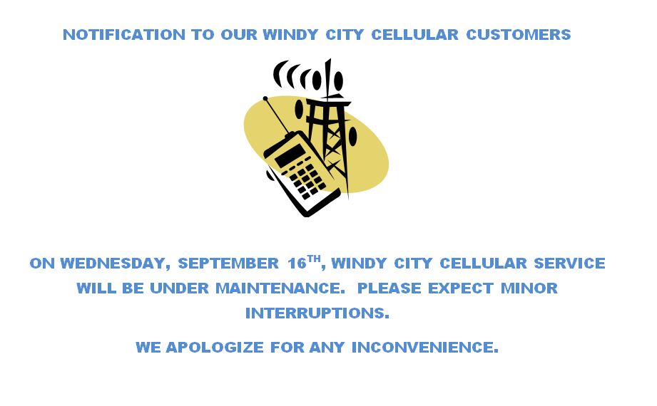 Notification to WCC Customers