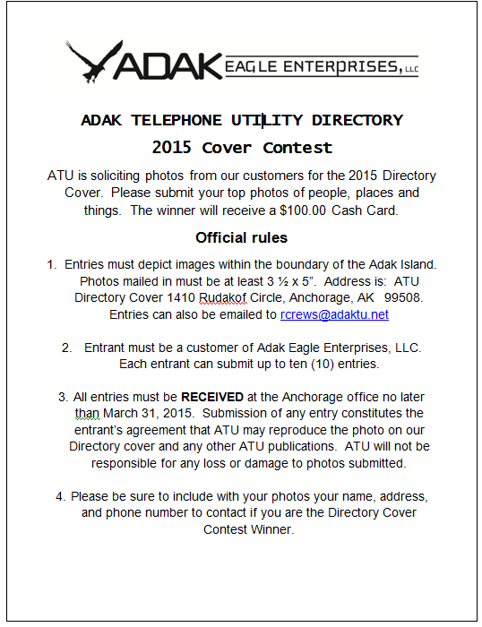 Adak Phone Directory Rules