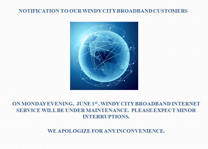 Broadband Maintenance Notification