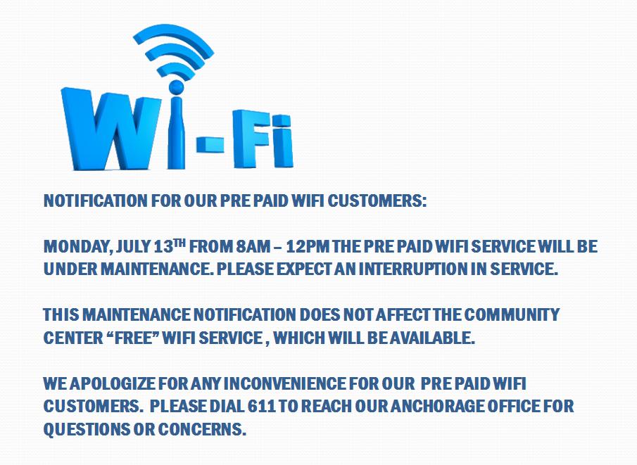 wifi announcement