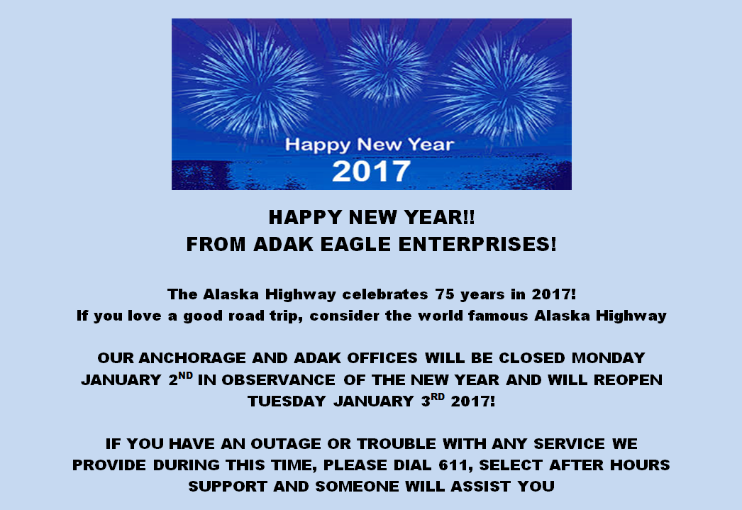 New Years Announcement Closed Jan 2nd Reopen Jan 3rd