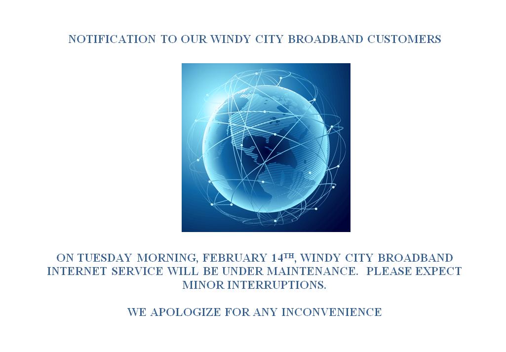 WCB Maintenance 2/14/2017