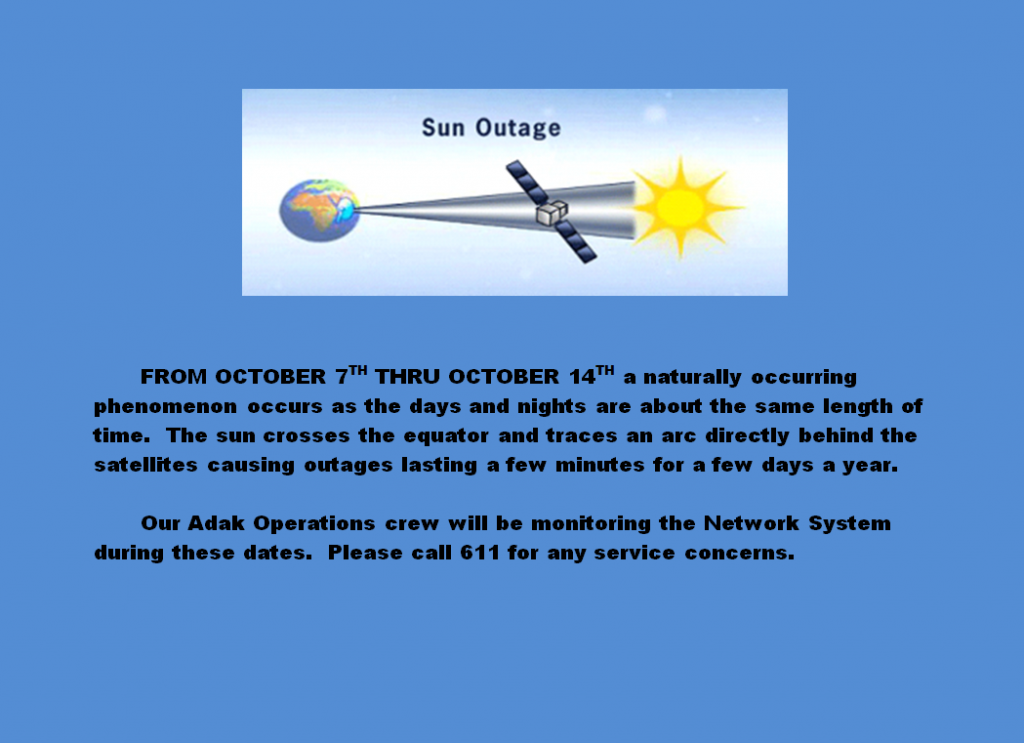 Sun Outages from October 7th through 14th