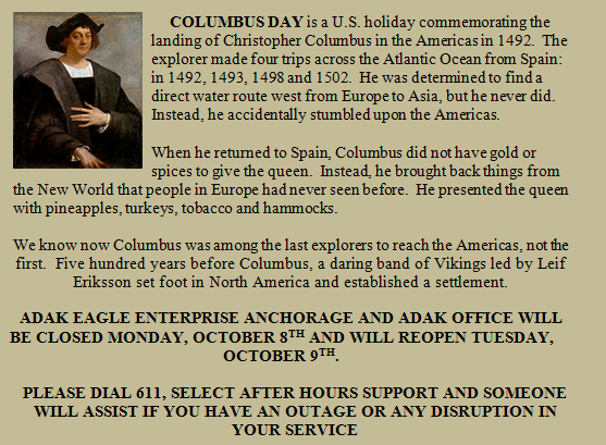 Columbus Day website